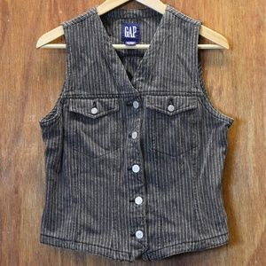 90's GAP Denim Striped Vest
